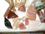 Red sunstone and others
