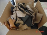 Box of Leather pieces