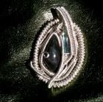 Velvet obsidian and bi coloredtourmaline